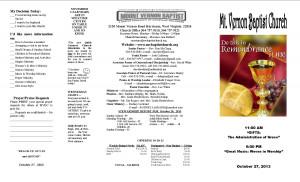 Baptist Church Bulletin Covers. Mens Day Bulletin Cover. View Original ...