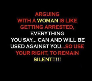 Arguing with a Woman #quotes