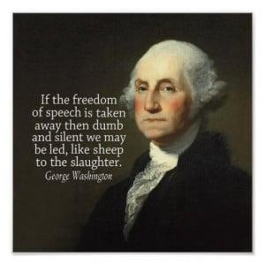 George Washington Quote on Freedom of Speech Print