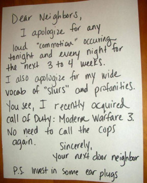 33 Not So Neighborly Notes