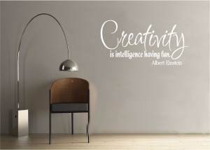 Details about Vinyl Wall Decal Art Quote Saying Decor Creativity is ...