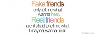 ... facebook cover, 'Fake friends real friends facebook photo cover