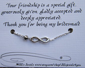 best friend infinity charm bracelet a crystal and friendship quote ins ...