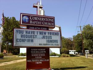 Baptist Church Signs Cornerstone baptist church