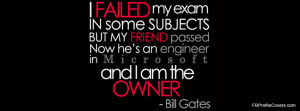 Bill Gates Quote Facebook Cover