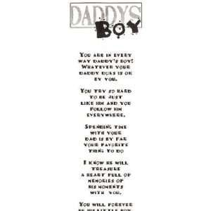 Daddys Boy Vellum Quotes: Kitchen & Dining