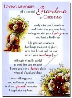 Missing Grandma At Christmas Time miss you family quotes heaven in ...