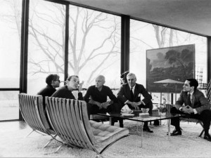 From left: Andy Warhol, David Whitney, Philip Johnson , Dr. John ...