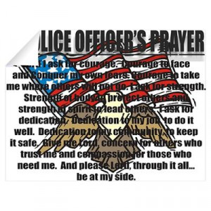... > Wall Art > Wall Decals > POLICE OFFICER'S PRAYER Wall Decal