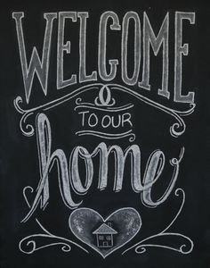 Chalkboard Welcome Print Welcome Sign Welcome by Sugarbirdprints, $23 ...