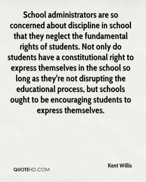 - School administrators are so concerned about discipline in school ...