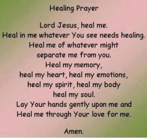 The Healing Prayer