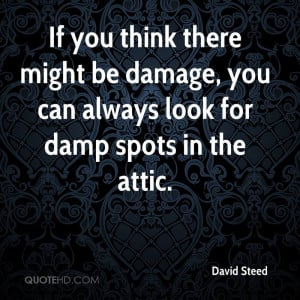 If you think there might be damage, you can always look for damp spots ...