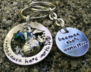 ... Couples Keychain - Marine Wife - Army Wife - Navy - Air Force Wife