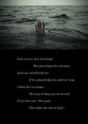 Drowning. #bipolar #depression #mentalillness #suicide