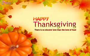 Happy Thanksgiving Day Wishes Quote Card and Greetings Wallpaper ...