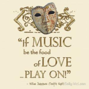 Shakespeare Twelfth Night Love Music Quote | Women's T-Shirt