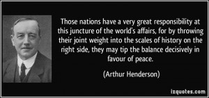 at this juncture of the world's affairs, for by throwing their joint ...