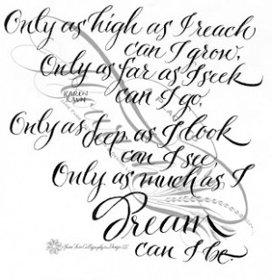 This quote is another I like to use for graduation cards. (2014 update ...
