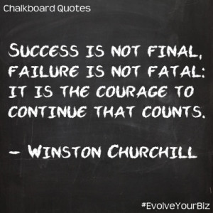 Chalkboard Motivational Quotes: Success is not final, failure is not ...