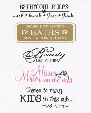 Splish Splash...Bathroom Sayings