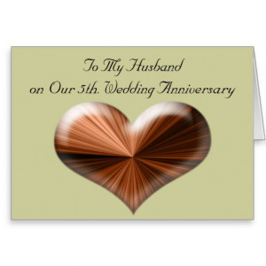 5th_wedding_anniversary_to_my_husband_card ...