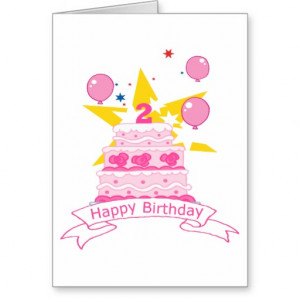 Year Old Birthday Cake Cards