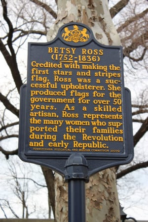 ... visit to the home of Betsy Ross, a flag maker from colonial times