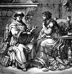 Peter Abelard and Heloise , ke12 century, France. Theologian and ...