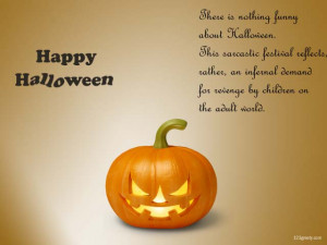 Happy Halloween 2012 Wallpaper With Halloween day Quotes.