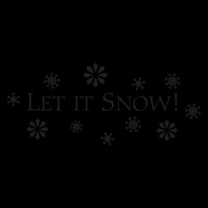 Let It Snow Classic Wall Quotes™ Decal