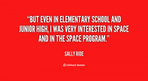 But even in elementary school and junior high, I was very interested ...
