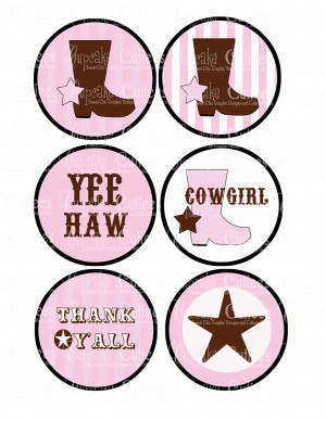 Cute Cowgirl Quotes Vintage cowgirl pink digital