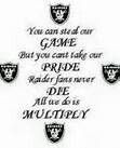 Proud to say ima raider fan