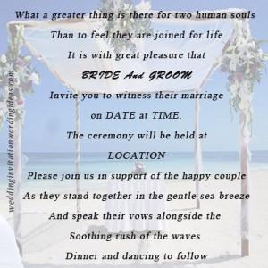 Beach wedding sayings