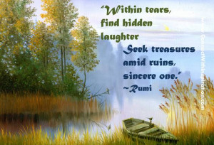 Within tears, find hidden laughter