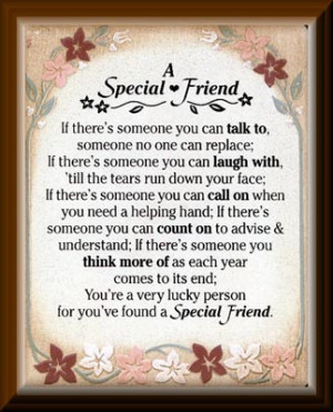 Special Friend Plaque