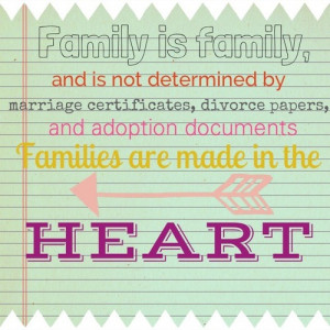 ... Divorce Papers And Adoption Documents Families Are Made In The Heart
