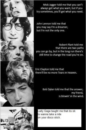 Quotes from famous rock singers