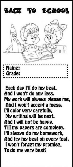 poems for kids about school