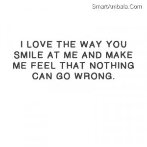 Love Quotes For Him About His Smile : Love His Smile Quotes. QuotesGram