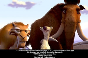 28 february 2002 titles ice age characters sid diego manny ice age
