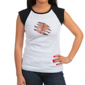 Busting Out Cleavage Women's Cap Shirt
