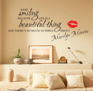 Details about MARILYN MONROE WALL STICKERS QUOTES ART DECALS W55