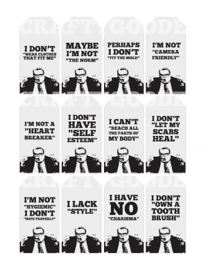 SNL Chris Farley Quote Gift Tags | Printable | Typography