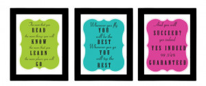 Dr.Suess Seuss Quote Poster Set Perfect for Classroom - (3) 8x10 ...