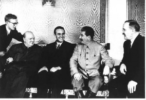 ... Averell Har­ri­man, Stalin, and Soviet For­eign Min­is­ter Vyach