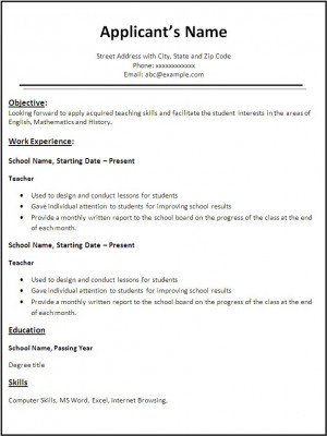 teacher resume templates with quotes quotesgramteacher resume template word templates