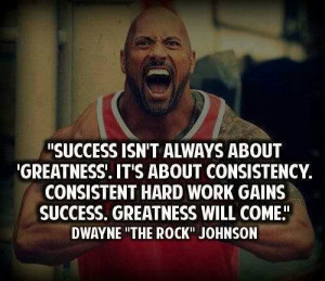 ... consistency. Consistent Hard Work gains success. Greatness will come