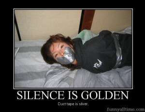Funny Quotes Silence Golden